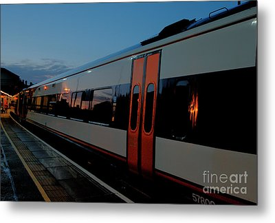 Night Train To London Metal Print by Deborah Smolinske