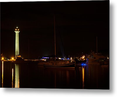 Night View Of Put-in-bay Metal Print by Haren Images- Kriss Haren