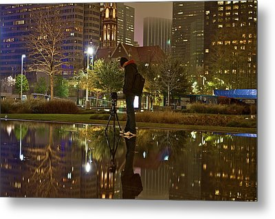 Metal Print featuring the photograph Night Vision by John Babis