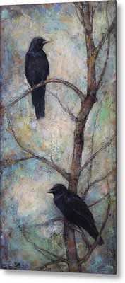 Night Watch -  Ravens Metal Print by Lori  McNee