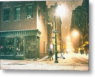 Night - Winter - New York City Metal Print by Vivienne Gucwa