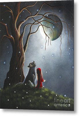 Little Red Riding Hood Art Prints Metal Print by Shawna Erback