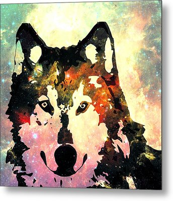 Night Wolf Metal Print by Anastasiya Malakhova