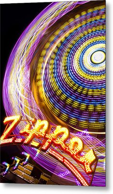 Night Zipper Metal Print by Caitlyn  Grasso