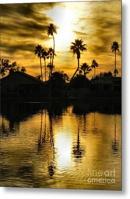 Metal Print featuring the photograph Nightfall by Deb Halloran