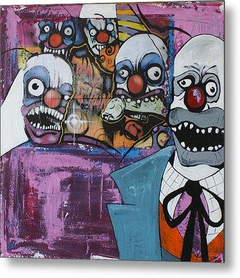 Nightmare Of The Clown Metal Print by Sanne Rosenmay