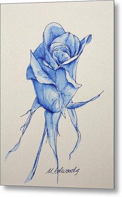 Niki's Rose Metal Print