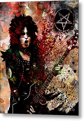Nikki Sixx - Motley Crue  Metal Print by Ryan Rock Artist