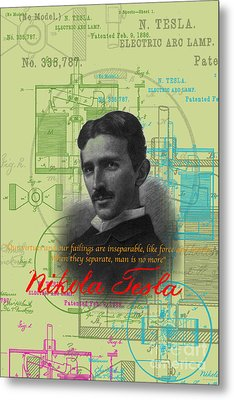 Nikola Tesla #3 Metal Print by Jean luc Comperat