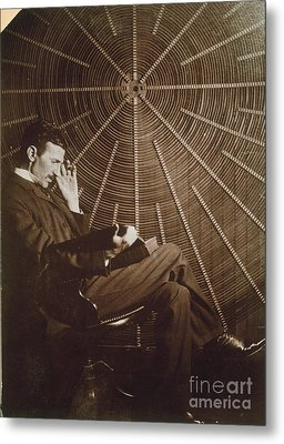 Nikola Tesla Metal Print by Granger