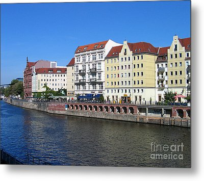 Metal Print featuring the photograph Nikolaiviertel by Art Photography