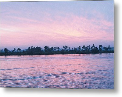 Metal Print featuring the photograph Nile Sunset by Cassandra Buckley