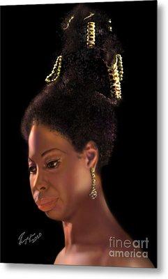 Nina Simone Metal Print by Reggie Duffie