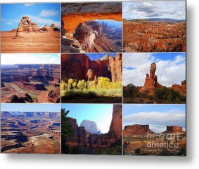 Nine Utah Landmarks Metal Print