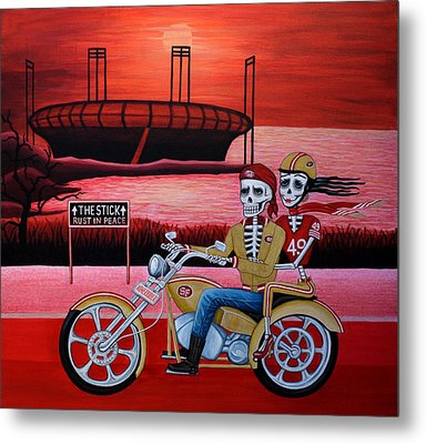 Metal Print featuring the painting Ninerrider by Evangelina Portillo