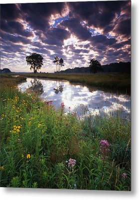 Nippersink Sunrise Metal Print by Ray Mathis