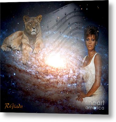 Metal Print featuring the digital art Nippy The Graceful Lioness - Tribute Art By Giada Rossi by Giada Rossi