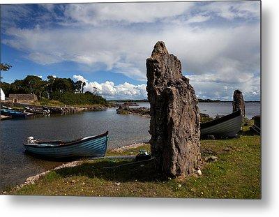 Nishmicatreer Island In Lough Corrib Metal Print by Panoramic Images
