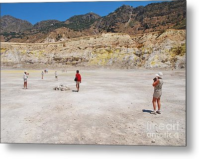 Nisyros Volcano Greece Metal Print
