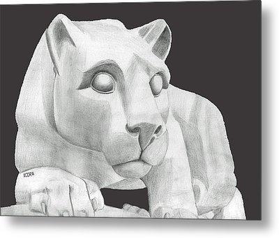 Nittany Lion Statue Metal Print