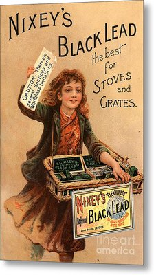 Nixey�s 1890s Uk Black Lead  Products Metal Print by The Advertising Archives