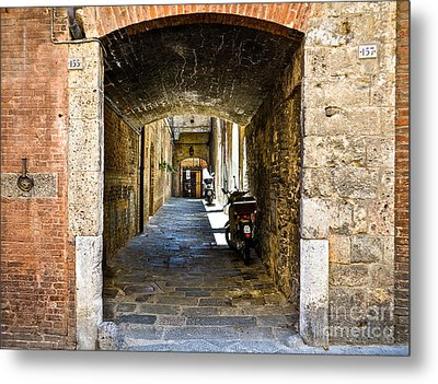 No 155 And 157 - Siena Metal Print