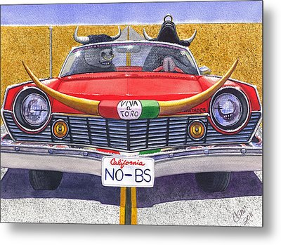 No B.s. Metal Print by Catherine G McElroy