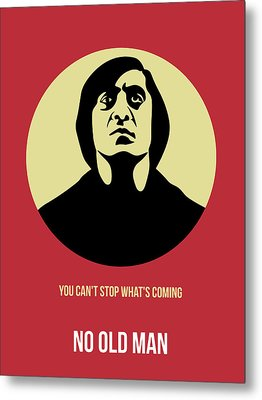 No Country For Old Man Poster 3 Metal Print by Naxart Studio