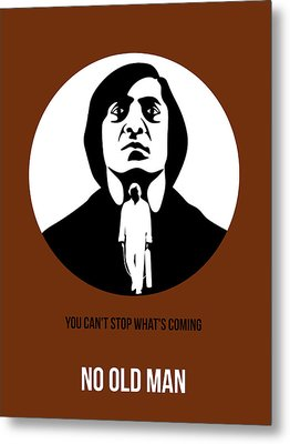 No Country For Old Man Poster 4 Metal Print by Naxart Studio