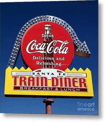 No Dinner At The Diner Metal Print by Mel Steinhauer