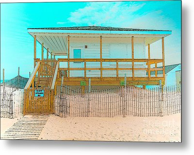 No Entry Lifeguards Only Metal Print