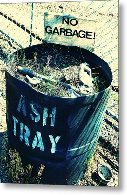 Metal Print featuring the photograph Ash Tray Steel Drum by Laurie Tsemak