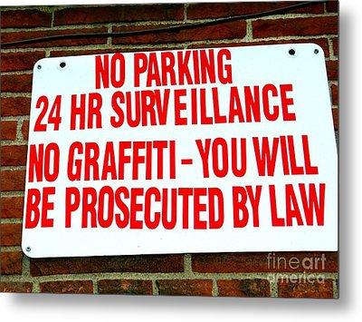 No Graffiti Metal Print by Ed Weidman