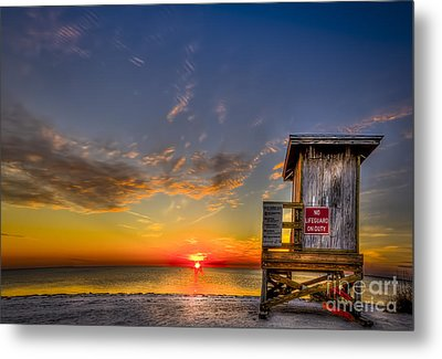 No Life Guard On Duty Metal Print by Marvin Spates