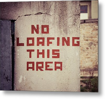 Metal Print featuring the photograph No Loafing by Takeshi Okada