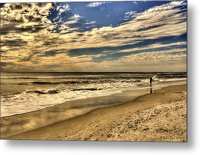 Metal Print featuring the photograph No More Surfing Today by Julis Simo