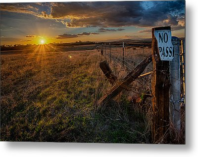 No Pass II Metal Print by Peter Tellone