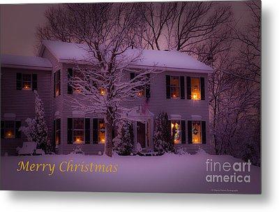 No Place Like Home Christmas Card Metal Print
