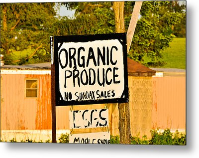 No Sunday Sales Metal Print by BandC  Photography