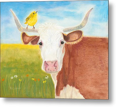 Metal Print featuring the painting No Tree Necessary by Arlene Crafton