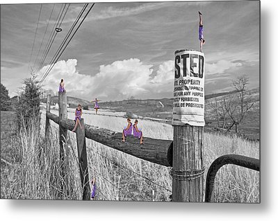 No Trespassing Metal Print by Betsy Knapp