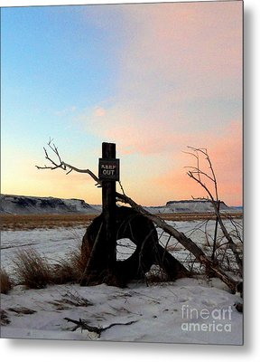 No Trespassing Metal Print by Desiree Paquette