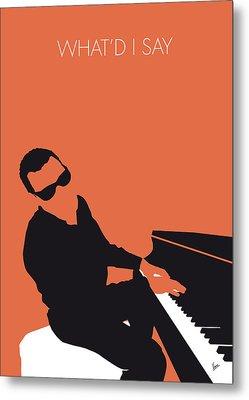 No003 My Ray Charles Minimal Music Poster Metal Print