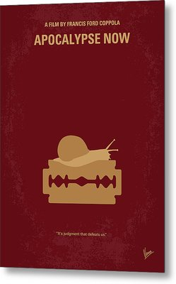 No006 My Apocalypse Now Minimal Movie Poster Metal Print by Chungkong Art