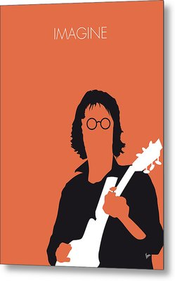 No013 My John Lennon Minimal Music Poster Metal Print by Chungkong Art