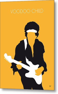 No014 My Jimi Hendrix Minimal Music Poster Metal Print by Chungkong Art