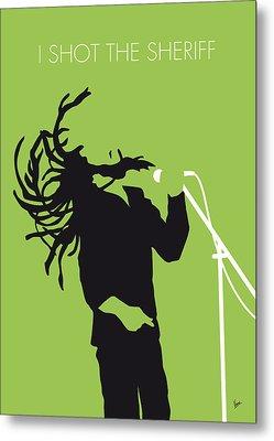 No016 My Bob Marley Minimal Music Poster Metal Print by Chungkong Art