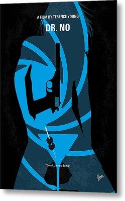 No024 My Dr No James Bond Minimal Movie Poster Metal Print by Chungkong Art