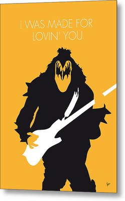 No024 My Kiss Minimal Music Poster Metal Print by Chungkong Art
