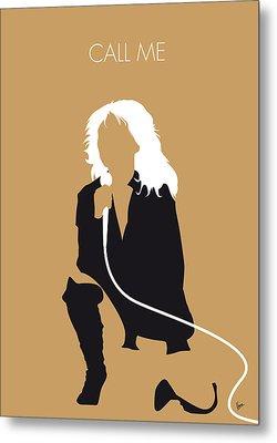 No030 My Blondie Minimal Music Poster Metal Print by Chungkong Art